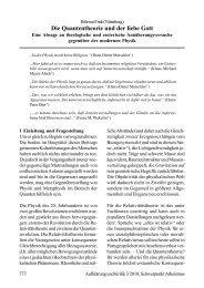 Die Quantentheorie und der liebe Gott - Institut für Theoretische ...