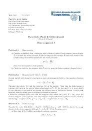 Theoretische Physik 2: Elektrodynamik Home assignment 6