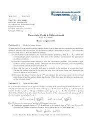 Theoretische Physik 2: Elektrodynamik Home assignment 11