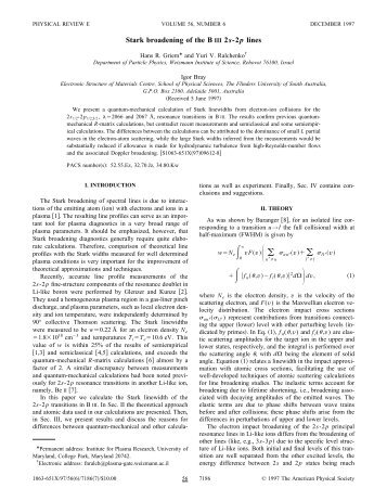 Stark broadening of the B III 2s-2p lines - WIS Plasma Laboratory