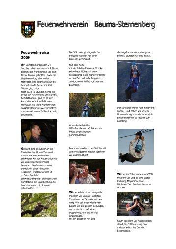 Reisebericht von Simon Schuster - bei der Feuerwehr Bauma ...