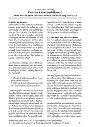 Feuerbach ohne Sozialismus?
