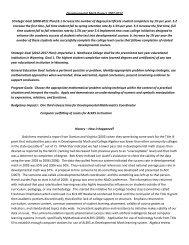 Developmental Math Project 2007-2012 - Northwest College