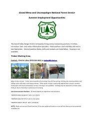 Grand Valley Ranger District - USDA Forest Service