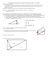 VISUALIZING SIMILARITIES IN RIGHT TRIANGLES USING 3 X 5 ...