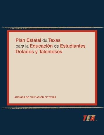 Plan Estatal de Texas para la Educación de Estudiantes Dotados y ...