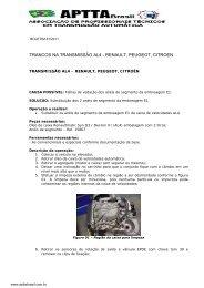 trancos na transmissão al4 - renault, peugeot, citroen - Aptta Brasil