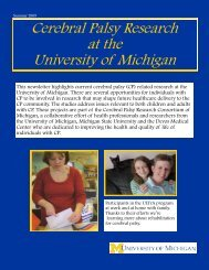 Cerebral Palsy Research Newsletter 2009.pdf - UMich Motor Control ...