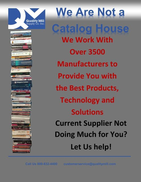 We Are Not a Catalog House