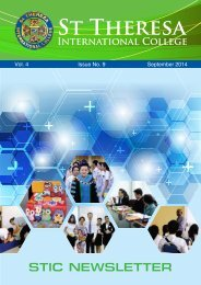 NEWSLETTER_ St Theresa International College, Thailand