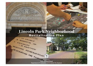 Lincoln Park Neighborhood Revitalization Plan - City of South Bend