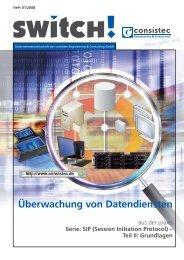 Überwachung von Datendiensten - Consistec Engineering und ...