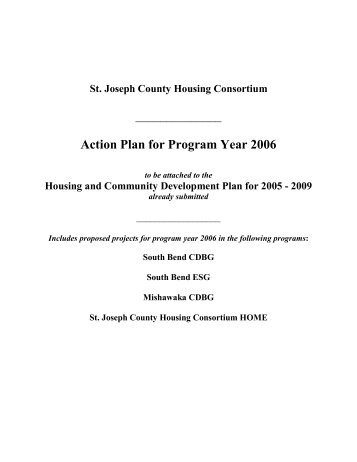 Action Plan for Program Year 2006