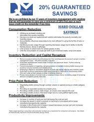 20% GUARANTEED SAVINGS