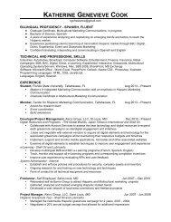 View Katherine's Resume - Center for Hispanic Marketing ...