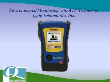 Environmental Monitoring with ATP Technology Quip ... - Acts Training