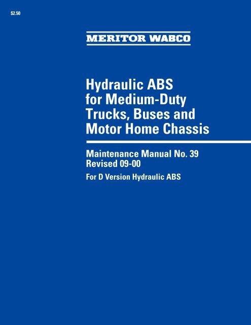 Meritor Wabco Maintenance Manual 39 - Oemys-performance com