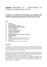 Leitlinien des Bundesverbandes autismus Deutschland e.V. zur ...