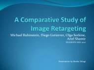 A Comparative Study of Image Retargeting - Visualization