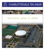 Saturday, April 4, 2009 - Charlottesville Ten Miler