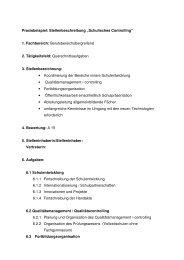 Stellenbeschreibung Praxisanleiter