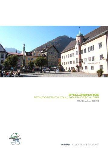stellungnahme standortentwicklung stadtschloss - Schloss Immenstadt