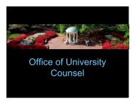 Legal Issues - Executive Vice Chancellor & Provost - University of ...