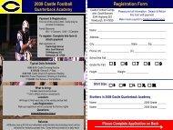 Registration Form 2009 Castle Football - Newburgh Castle Knights ...