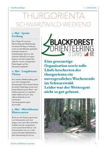 """Schwarzwald-Weekend """"Blackforest 3 Days"""""""