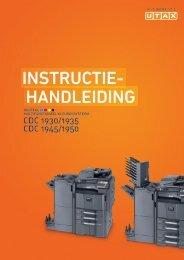 handleiding instructie- - Utax
