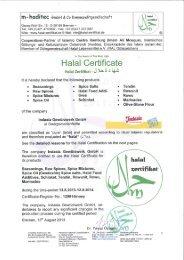Halal Certificate - Indasia.de
