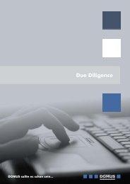 Flyer Due Diligence für das Web.cdr - Domus AG