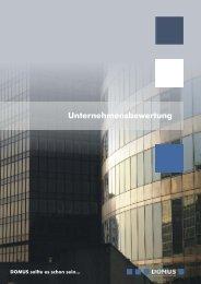 Flyer Unternehmensbewertung für das Web.cdr - Domus AG