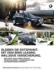 BLEIBEN SIE ENTSPANNT. MIT DEM BMW LEASING INKLUSIVE ...