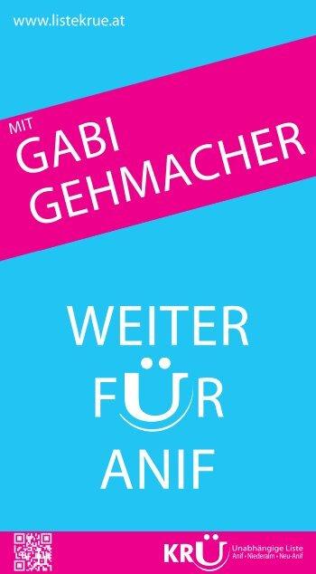 Wahlprogramm Gabi Gehmacher