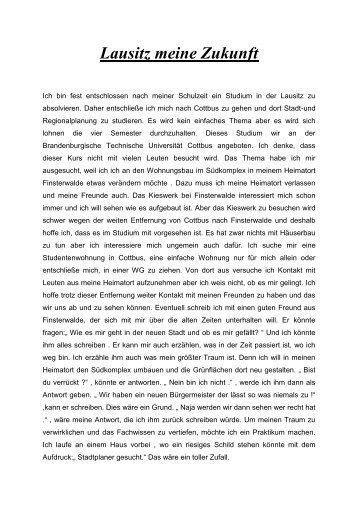 """Justin W., 14 Jahre:""""Lausitz meine Zukunft"""" - Kerstin Hansen Stiftung"""