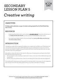 Creative writing - World Book Day