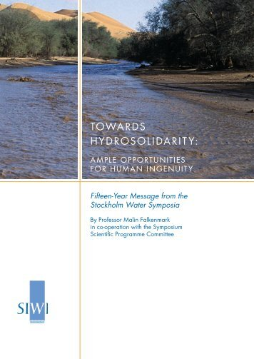 TOWARDS HYDROSOLIDARITY: - World Water Week