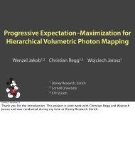 Presentation slides, PDF - Disney Research