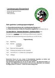 Einladung GV LG und Terminvorschau 2013 - Österreichischer Club ...