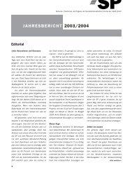 JAHRESBERICHT 2003/2004 - SP Stadt Zürich