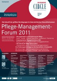 PflEGE-MAnAGEMEnt-foRuM 2011 - OrgaCard