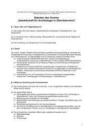 """Statuten des Vereins """"Gesellschaft für Archäologie in ... - Sonius"""