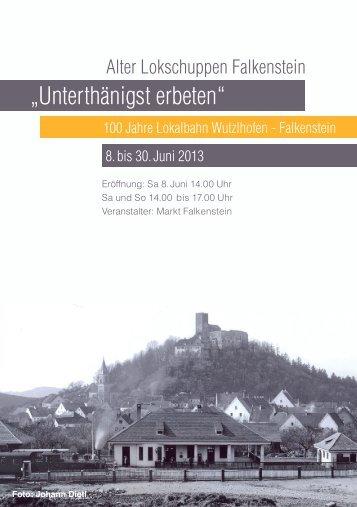 """""""Unterthänigst erbeten"""" - Markt Falkenstein"""