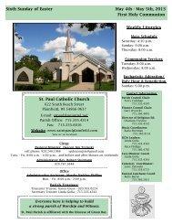 May 5th, 2013 First Holy Communion - St. Paul Catholic Church