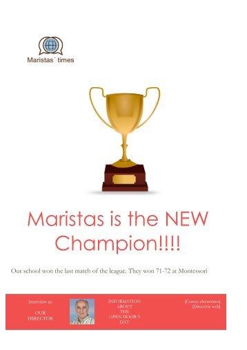 Maristas is the NEW Champion!!!!