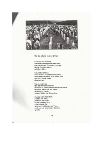 Gedicht: Prof. Hugo Schanovsky - Srebrenica - ZZI
