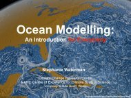 Ocean modelling - Centre of Excellence for Climate System Science