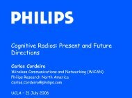 Cognitive Radios: Present and Future Directions - UCLA