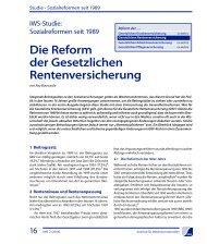 Die Reform der Gesetzlichen Rentenversicherung - Institut für ...